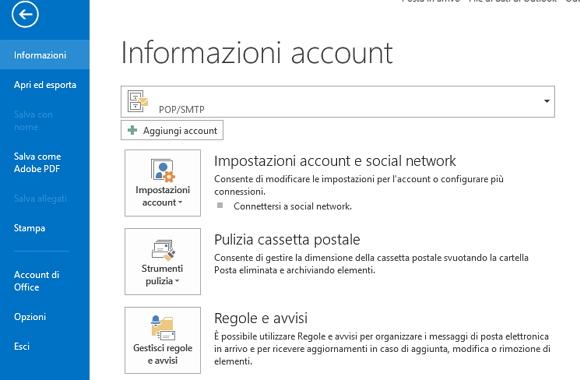 Consultare la PEC Kolst da un client: come configurare Outlook