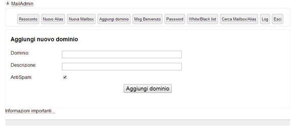 Posta elettronica e MyMailServer: creazione dominio